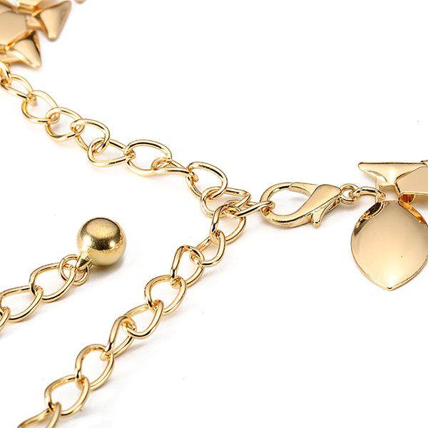 Women Ladies Tassel Alloy Gold Silver Waist Chain Belly Dance Dress Belt Accessories at Banggood