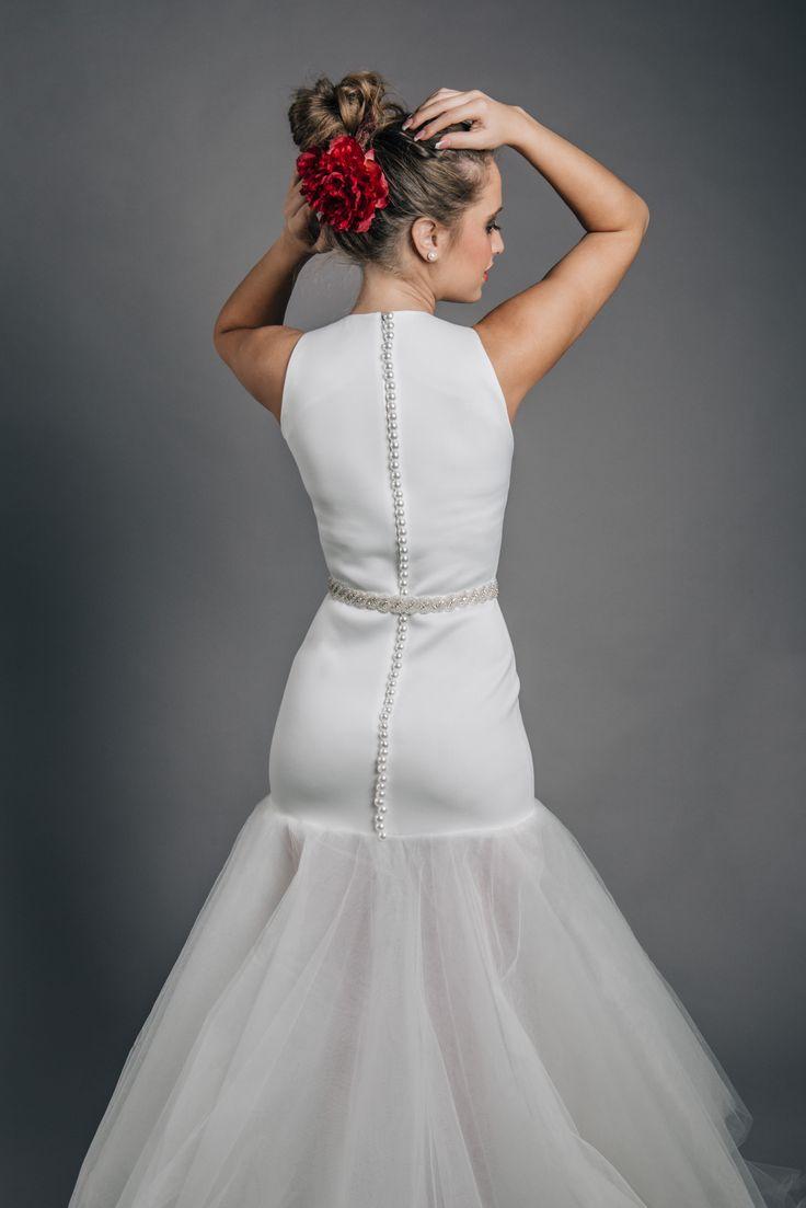White Wedding Dress!   #wedding #dress #white #long #kefashion
