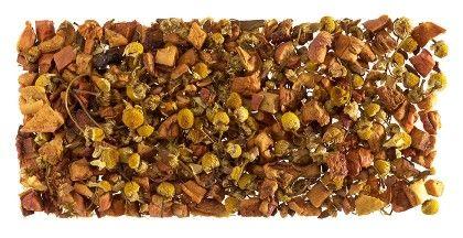 Delicia Golden, Tónica y digestiva tisana de canela, trocitos de manzana y manzanilla.