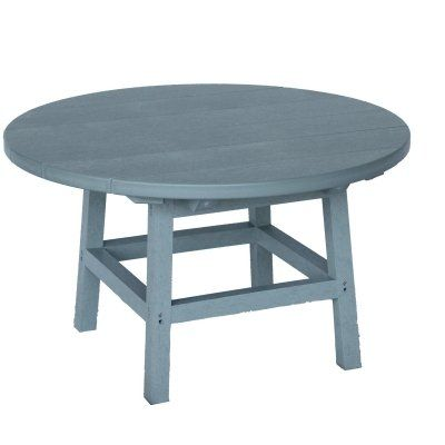 Pin it! :) Follow us :))  zPatioFurniture.com is your Patio Furniture Gallery ;) CLICK IMAGE TWICE for Pricing and Info :) SEE A LARGER SELECTION of  patio side tables at http://zpatiofurniture.com/category/patio-furniture-categories/patio-side-tables/ -  home, patio, home decor, patio side tables  -  Grey Polywood Adirondack Round Table « zPatioFurniture.com