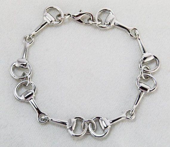 Horse Bit Bracelet-Lucky Pony Shop https://www.etsy.com/listing/185932324/horse-bit-bracelet-silver-beautiful