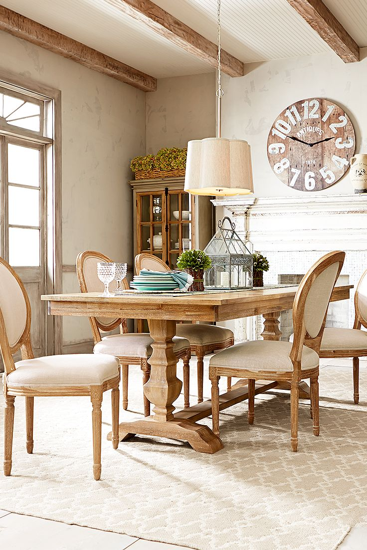 Light Airy Looks With Natural Tones And Textures Are Trending This Year Pier 1 S Bradding Dining Table Serves As A Hand Rooms Tablescapes In