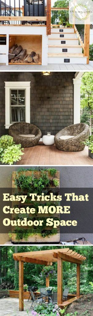 How to Create More Outdoor Space, Tips and Tricks, Landscape Design Tips, Landscape Design Ideas, How to Make Your Backyard Look Bigger, How to Make Your Yard Look Huge, Garden, Outdoor Living