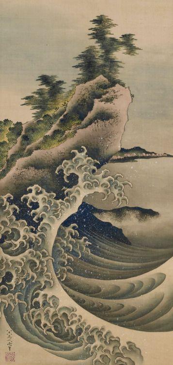 Breaking Waves. Painting. 1847, Japan, by artist Katsushika Hokusai . Gift of Charles Lang Freer . Freer Gallery of Art and Arthur M. Sackler Gallery