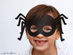 DIY masque araignée gratuit à imprimer 1 Plus