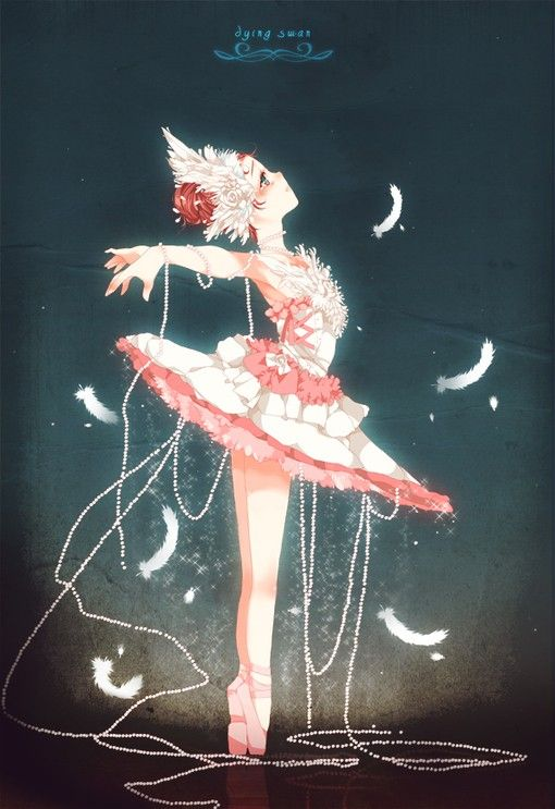 No idea if it was the inspiration, but I'm reminded of Princess Tutu :)