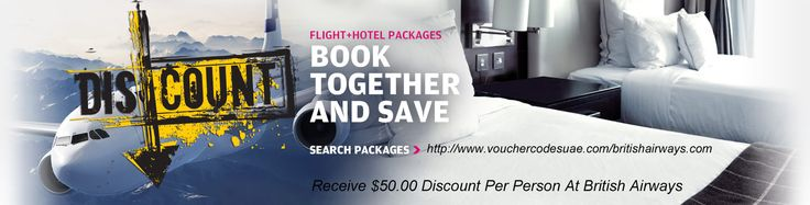 Receive $50.00 #Discount Per Person At #British #Airways Added Sunday 11th August 2013, Expires Tuesday 27th August 2013 Book Flights + Hotel from the US or Canada to the UK, Paris, Rome or Barcelona and receive $50.00 discount per person ($100.00 per booking based on 2 persons)