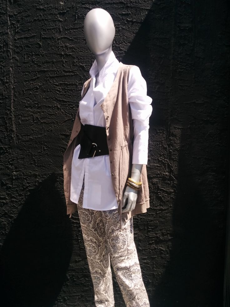 Blouse & Vest by Kokomarina paired with a belt by Nor & Pants by MAC