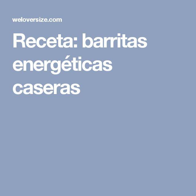 Receta: barritas energéticas caseras
