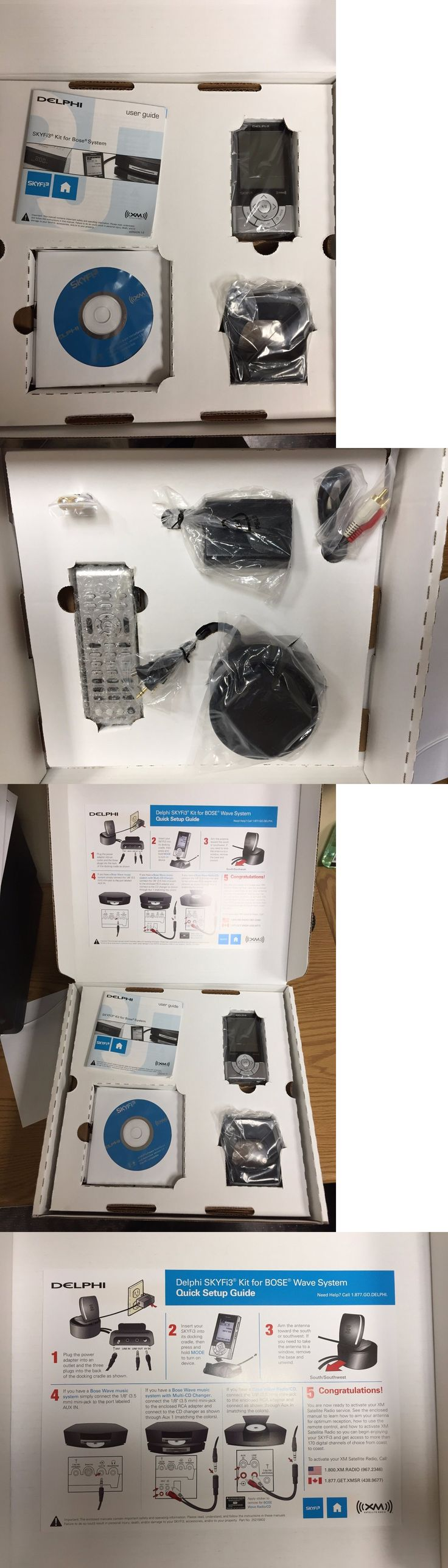 Portable Satellite Radios: Delphi Skyfi3 Xm Satellite Radio Kit For Bose System Receiver And Home Kit Sa10219 -> BUY IT NOW ONLY: $35.0 on eBay!
