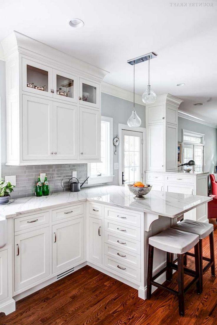 20 Fantastiska White Shaker Cabinets Kokideer Kok Ideer Cabinets Fantastiska Ideer Kok In 2020 White Shaker Kitchen White Kitchen Design Kitchen Cabinets Decor