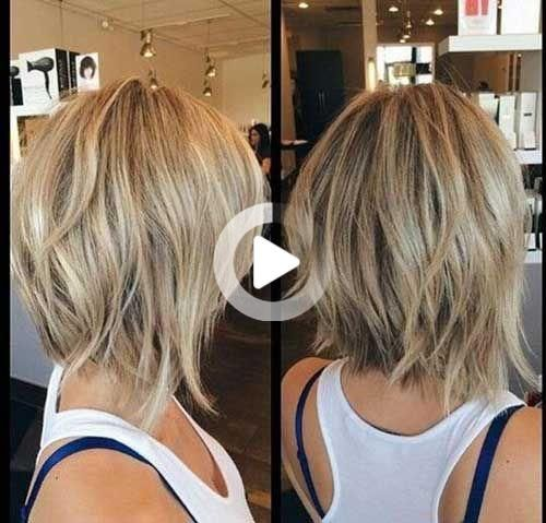 Short layered haircuts are extremely hot in the style and magnificence industry right now! They can be cheeky, sultry, sweet or chic! #bobhairstyles