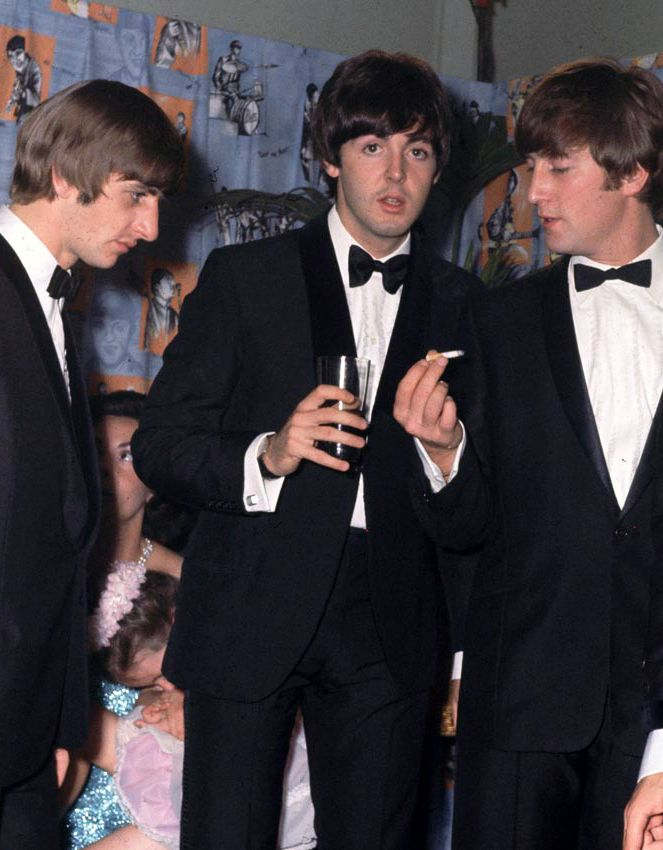 I think John was hypnotizing Ringo with his cigarette?