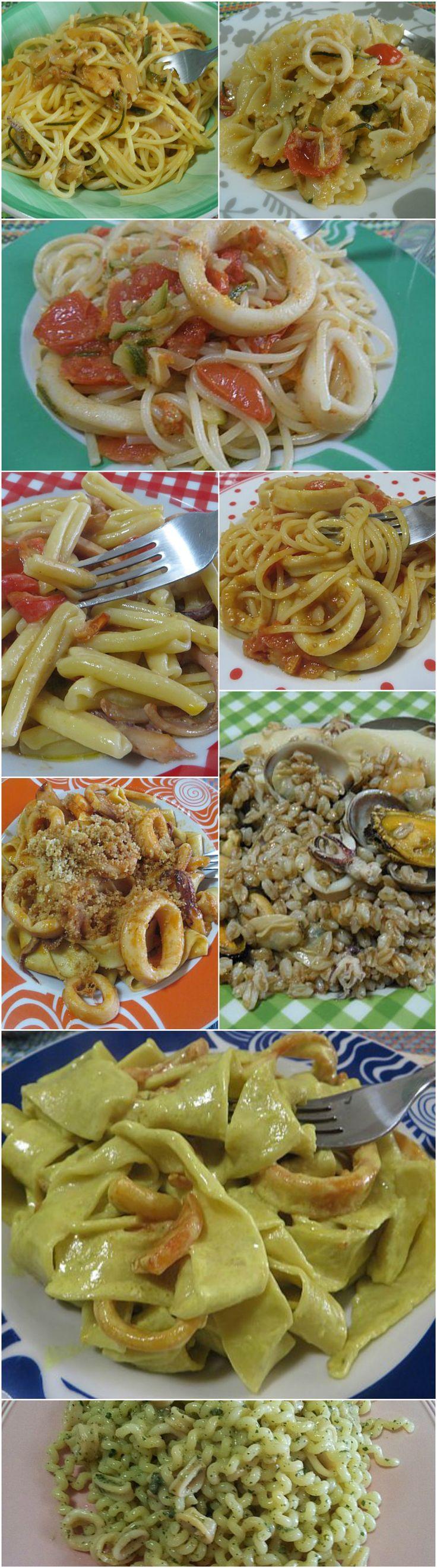 Raccolta di primi piatti con calamari !  #primipiatti #primidipesce  #ricettegustose #calamari