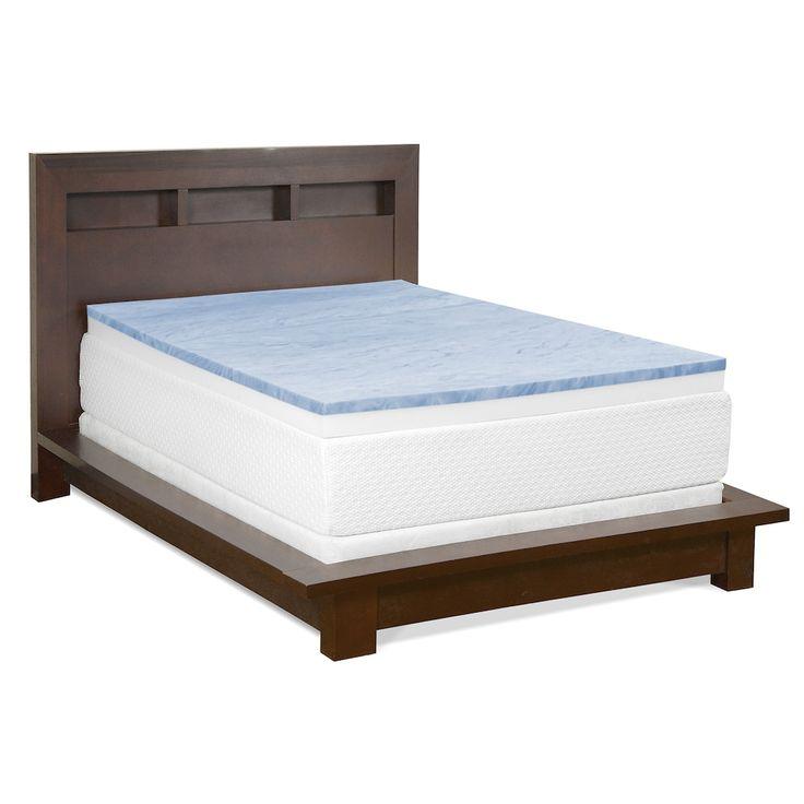 4inch gel memory foam mattress topper
