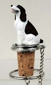 Springer Spaniel Bottle Stopper (Liver & White) by Conversation Concepts. $11.95. Pewter Base with chain and Ring to keep it with the bottle.. Satisfaction Guaranteed. Approximately 1.5 - 2 inches.. Made of Poly Resin and Hand Painted.. Wine Save Cork. Make every event a great event with this life like critter on your cool Springer Spaniel Bottle Stopper (Liver & White). Who could resist the charms of this cute little guy designed to fit perfectly atop any standard wine...