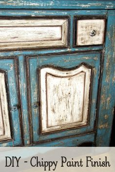 How To Get The Chippy Paint Look - Some really good ideas on painting furniture