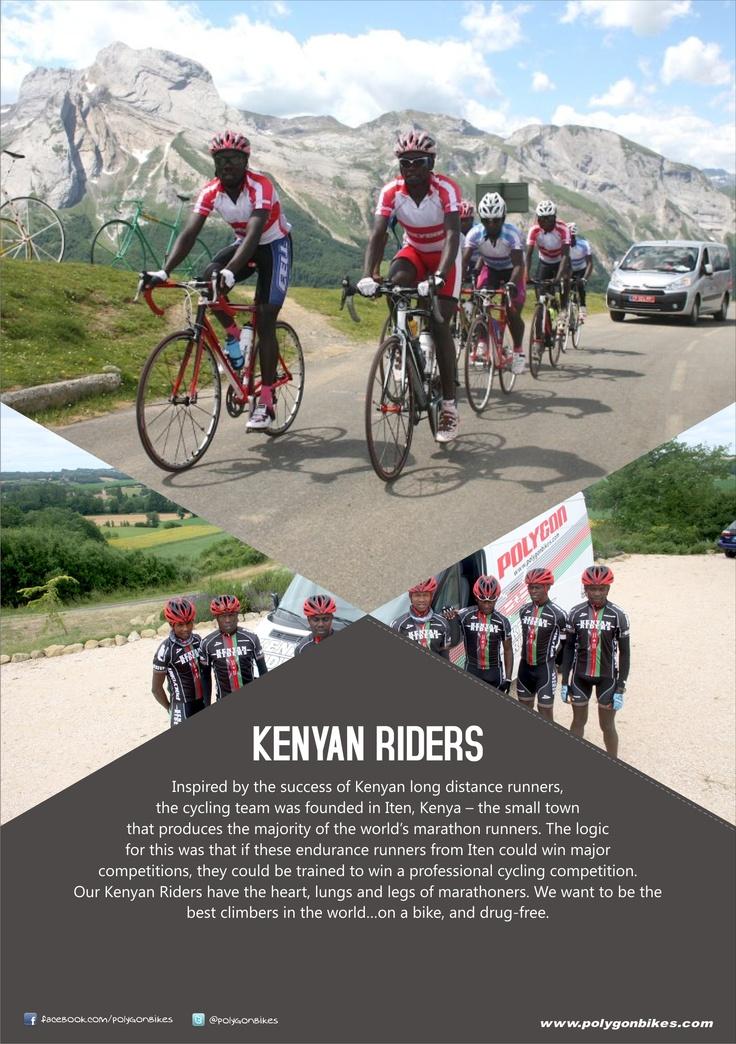 Kenyan riders, the best climbers on a bike..