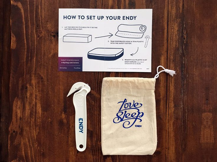 Endy Mattress Package and Setup Instructions