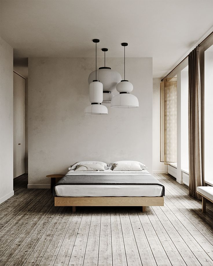 Cozy Minimalistic Bedroom In Warm Neutral Hues In 2020