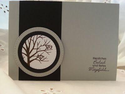 Trauerkarte, Baum der Freundschaft, stampin up
