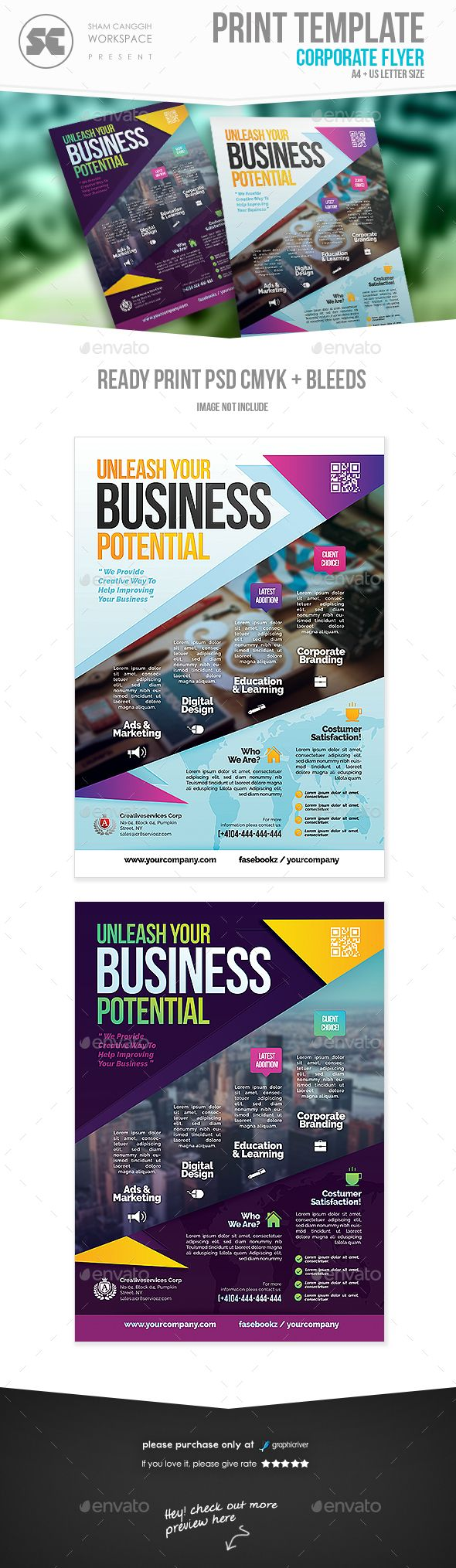 Business Flyer Template PSD