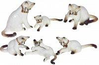 Фигурка Белые котята (6 шт)