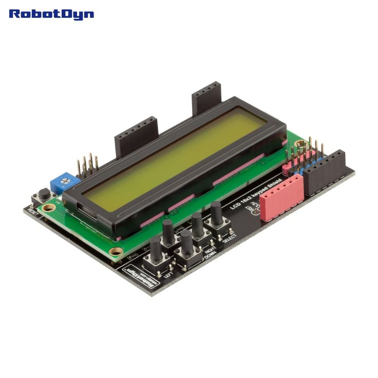 LCD keypad Shield, 1602 display, for Arduino LCD Shield GREEN SCREEN