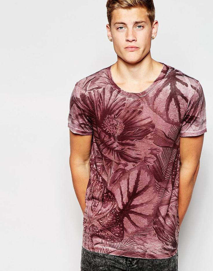 Image 2 ofNew Look Burnout T-Shirt with All Over Floral Print