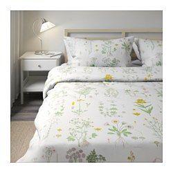 IKEA - STRANDKRYPA, Capa de edredão e fronha, 150x200/50x60 cm, , Capa de edredão com fechos de pressão ocultos; mantém o edredão no lugar.