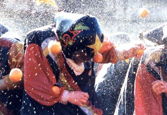 "How can you not love what is known as ""Italy's Largest Food Fight""?  Held in February and know locally as The Battaglia delle Arance, this event annually  draws as many as 4,000 orange throwing maniacs!  If you will be visiting Italy next February make sure to keep your head up!"
