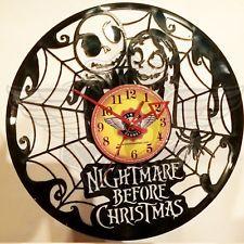 VINYL PLANET Wall Clock THE NIGHTMARE BEFORE CHRISTMAS