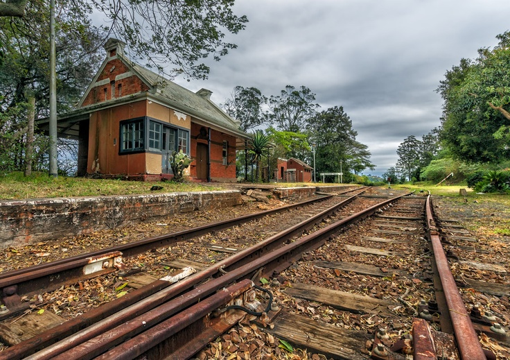 An old abandoned railway station in Bothas Hill, South Africa.