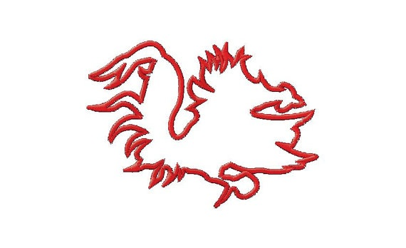 Gamecock Silhouette Machine Embroidery Design By