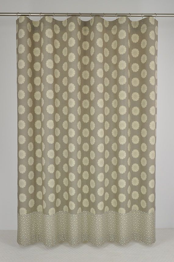 Expensive Shower Curtains Part - 50: 84 LONG Taupe Medallion Shower Curtain - 72 X 84 LONG - French Country