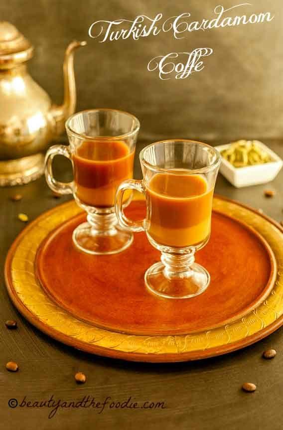 Turkish Cardamom Coffee - The best coffee I've ever made! magical coffee beautyandthefoodie.com