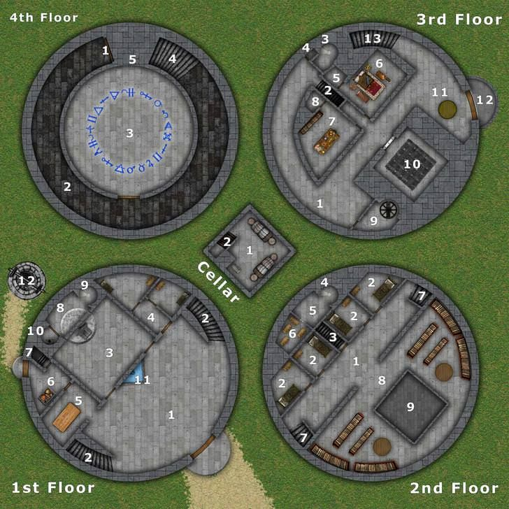 Rpg Tower Map Dnd Post Dungeon Maps Fantasy Map Tabletop Rpg Maps