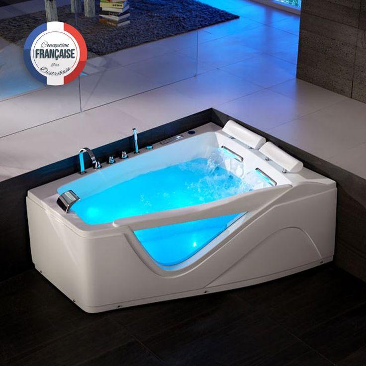 G-Neptune Baignoire Balnéo asymétrique, whirlpool 47 jets. Cocoonez dans un bain à remous ultra relaxant, bercé par les massages délicats et les lumières douces diffusées par la chromothérapie aux vertues relaxantes. Imaginez...