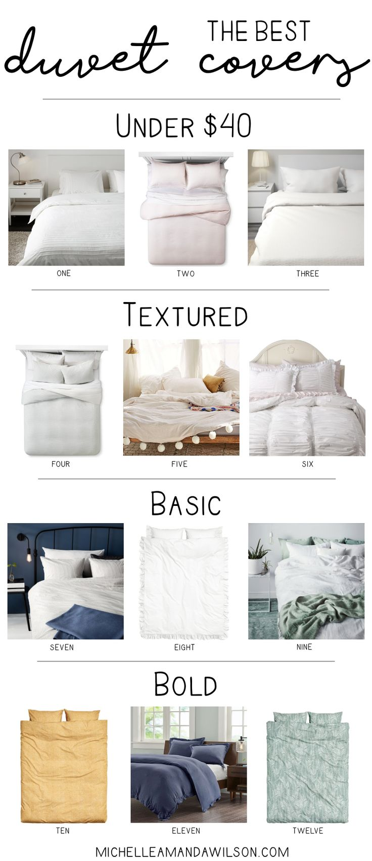 Looking for the best duvet covers? I've rounded up some of my favorites! / Michelle Amanda Wilson