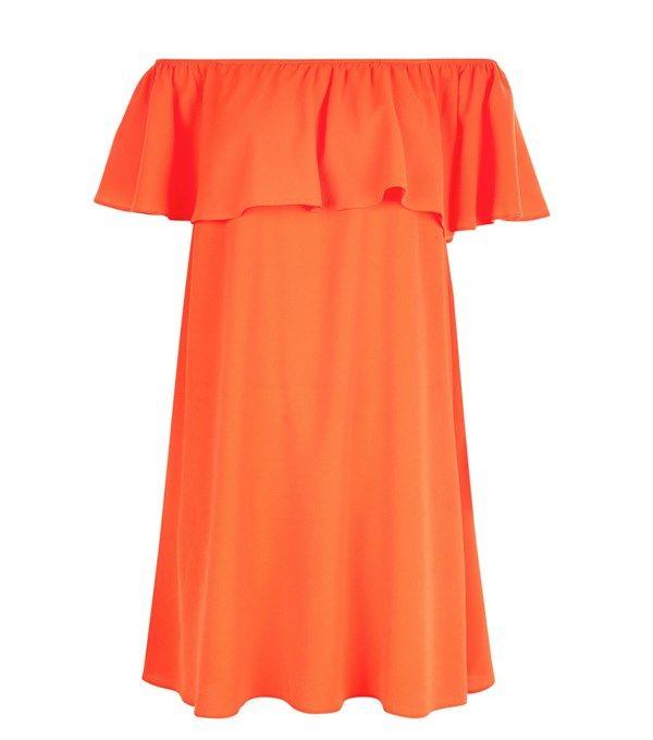 Red Bardot neck dress, £17.99, New Look