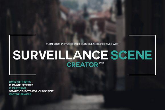 Surveillance Scene Creator PSD by M K GRAPHICS on @creativemarket