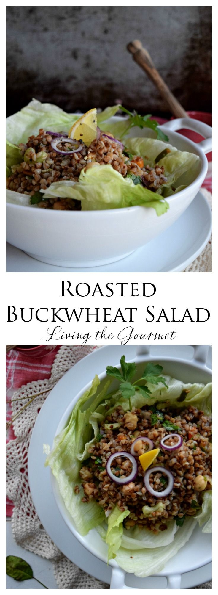 Roasted Buckwheat groats are tossed together chickpeas, jalapenos and a zesty lemon dressing for a light and refreshing feel-good meal. I spoke recently about my attempts at healthier snacking, and my struggle to stay fit despite my sedentary attachment to my desk and the decadent-yet-unavoidable temptations my test kitchen. Though in the words of Puzo...