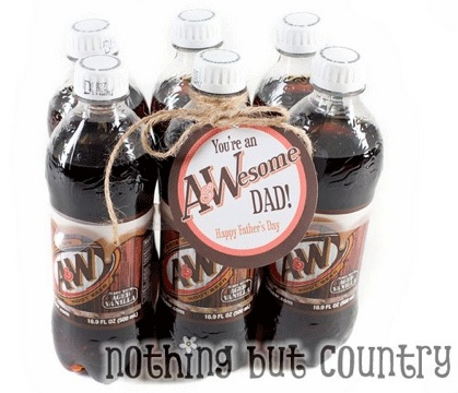 My kids love getting root beer treats from their daddy, so this would be very cute.