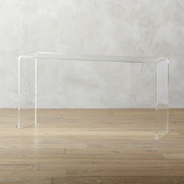 "CB2 - November Catalog 2016 - peekaboo 56"" acrylic console table $699"