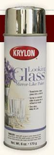 GORGEOUS SHINY THINGS: Have you seen this?  Looking glass spray paint.