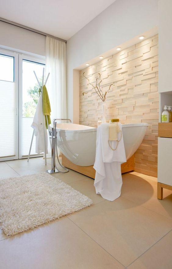 faience salle de bain leroy merlin de couleur beige clair:
