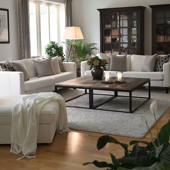I like darker colored furniture. Instead of white furniture it would be a shade of brown or dark grey.