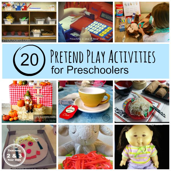 Kids Pretend Play Activities - Teaching 2 and 3 year olds