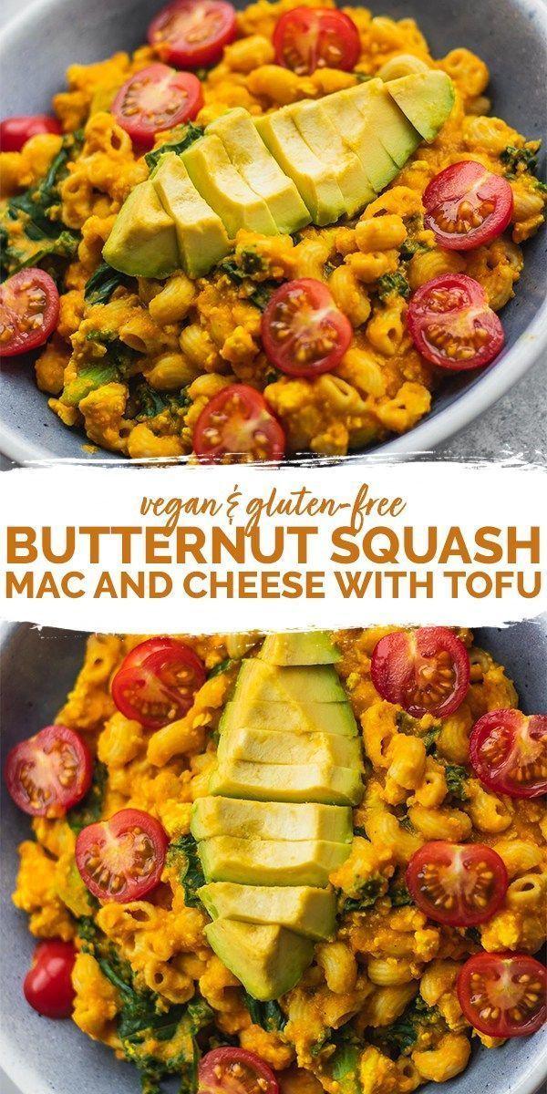 Butternut Squash Mac And Cheese With Tofu Gluten Free Earth Of Maria Recipe Recipes Vegetarian Recipes Butternut Squash Mac And Cheese