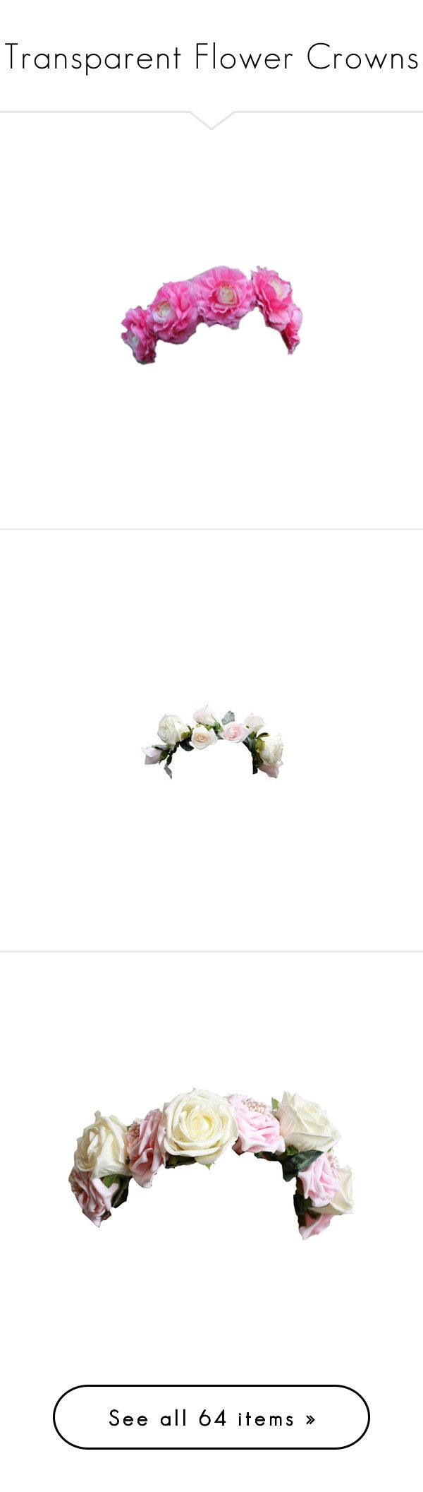 22 best flower crowns images on pinterest floral crowns flower transparent flower crowns by ashleycade23 liked on polyvore featuring accessories hair accessories izmirmasajfo